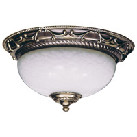 Napoleonic 2 Light 12 inch French Brass Flush Mount Ceiling Light