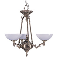 HA Framburg Napoleonic 3 Light Chandelier in French Brass 8403FB