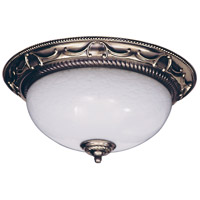 Napoleonic 2 Light 16 inch French Brass Flush Mount Ceiling Light