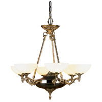 HA Framburg Napoleonic 6 Light Chandelier in French Brass 8406FB