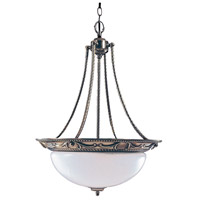 HA Framburg Napoleonic 3 Light Foyer Chandelier in French Brass 8408FB