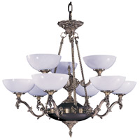 Napoleonic 9 Light 33 inch French Brass Chandelier Ceiling Light