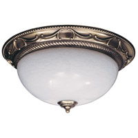 Napoleonic 3 Light 20 inch French Brass Flush Mount Ceiling Light