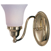HA Framburg Magnolia 1 Light Bath Light in Polished Brass 8411PB