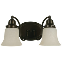 HA Framburg Magnolia 2 Light Bath Light in Mahogany Bronze 8412MB
