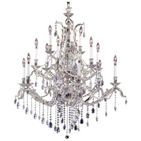HA Framburg Czarina 15 Light Foyer Chandelier in Polished Silver 8425PS
