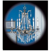 HA Framburg Czarina 6 Light Chandelier in Polished Silver 8426PS