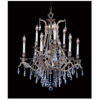 HA Framburg Czarina 9 Light Chandelier in French Brass 8429FB