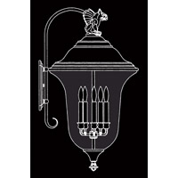 HA Framburg Carcassonne 5 Light Exterior in Iron 8507IRON
