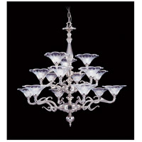 Geneva 15 Light 40 inch Polished Silver Foyer Chandelier Ceiling Light