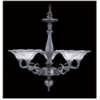 Geneva 5 Light 29 inch Mahogany Bronze Chandelier Ceiling Light