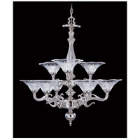 HA Framburg Geneva 9 Light Chandelier in Polished Silver 8629PS
