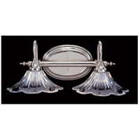Geneva 2 Light 18 inch Polished Silver Bath Light Wall Light