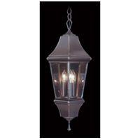 Normandy 3 Light 10 inch Iron Exterior Ceiling Lantern in Without Shade