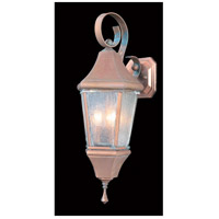 Framburg 8740RC Normandy 3 Light 21 inch Raw Copper Exterior Wall Lantern in Without Shade