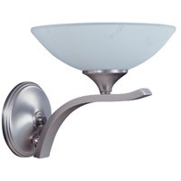HA Framburg Solstice 1 Light Bath Light in Satin Pewter/Polished Nickel 8801SP/PN