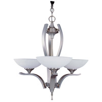HA Framburg Solstice 3 Light Chandelier in Satin Pewter/Polished Nickel 8803SP/PN