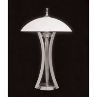HA Framburg Solstice 3 Light Table Lamp in Satin Pewter/Polished Nickel 8810SP/PN