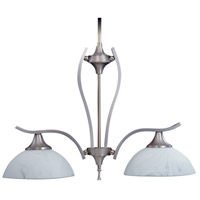 HA Framburg Solstice 2 Light Island Chandelier in Satin Pewter/Polished Nickel 8812SP/PN