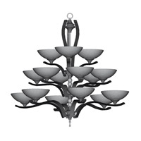 HA Framburg Solstice 15 Light Foyer Chandeliers in Satin Pewter/Polished Nickel 8815SP/PN