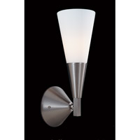 HA Framburg Solstice 1 Light Bath Light in Brushed Stainless/Polished Nickel 8834BS/PN