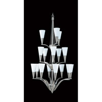 HA Framburg Solstice 16 Light Foyer Chandelier in Brushed Stainless/Polished Nickel 8836BS/PN