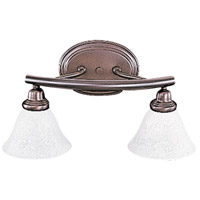 Metro 2 Light 19 inch Mahogany Bronze Sconce Wall Light in White Marble