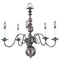 HA Framburg Jamestown 5 Light Chandelier in Mahogany Bronze 9125MB