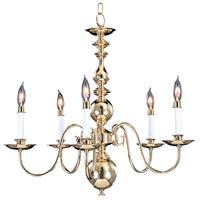 HA Framburg Jamestown 5 Light Chandelier in Polished Brass 9126PB