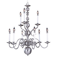 HA Framburg Jamestown 9 Light Chandelier in Satin Pewter 9129SP