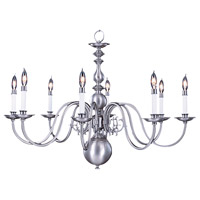 HA Framburg Jamestown 8 Light Chandelier in Satin Pewter 9130SP