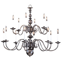 Jamestown 14 Light 41 inch Mahogany Bronze Foyer Chandelier Ceiling Light