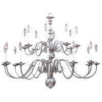 HA Framburg Jamestown 20 Light Foyer Chandelier in Satin Pewter 9138SP