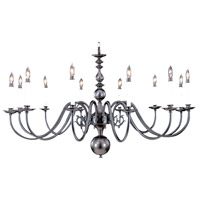 Jamestown 12 Light 48 inch Mahogany Bronze Foyer Chandelier Ceiling Light