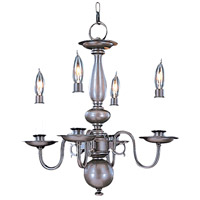 Jamestown 4 Light 16 inch Mahogany Bronze Mini Chandelier Ceiling Light