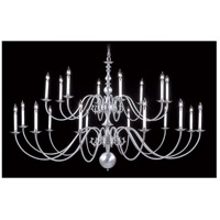 HA Framburg Jamestown 20 Light Foyer Chandelier in Satin Pewter 9145SP