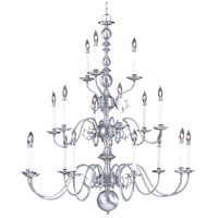 HA Framburg Jamestown 18 Light Foyer Chandelier in Satin Pewter 9148SP