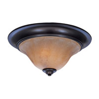 Black Forest 2 Light 18 inch Mahogany Bronze Flush Mount Ceiling Light in Without Shade
