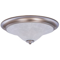 Black Forest 3 Light 25 inch Satin Pewter Flush Mount Ceiling Light in White Marble
