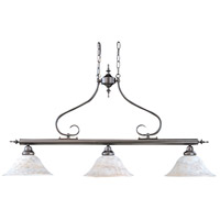Black Forest 3 Light 43 inch Mahogany Bronze Island Chandelier Ceiling Light in Without Shade