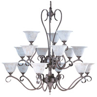 HA Framburg Black Forest 15 Light Foyer Chandelier in Mahogany Bronze/Amber Marble 9165MB/AM