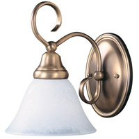 HA Framburg Black Forest 1 Light Bath Light in Harvest Bronze/White Marble 9171HB/WH