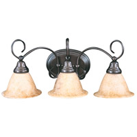 HA Framburg Black Forest 3 Light Bath Light in Satin Pewter/White Marble 9173SP/WH