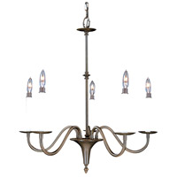 Framburg 9225MB Jamestown 5 Light 26 inch Mahogany Bronze Dining Chandelier Ceiling Light