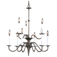Framburg 9229MB Jamestown 9 Light 28 inch Mahogany Bronze Dining Chandelier Ceiling Light photo thumbnail