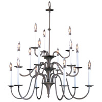 Jamestown 15 Light 35 inch Mahogany Bronze Foyer Chandelier Ceiling Light