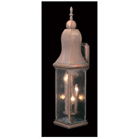 Marquis 3 Light 28 inch Raw Copper Exterior Wall Lantern