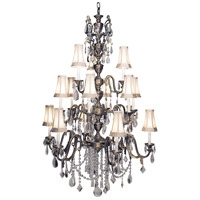 HA Framburg Czarina 15 Light Foyer Chandelier in Harvest Bronze/Beige 9286HB/BEIGE