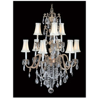 HA Framburg Czarina 9 Light Foyer Chandelier in Harvest Bronze/Beige 9289HB/BEIGE photo thumbnail
