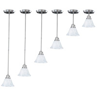 HA Framburg Solstice 1 Light Pendant in Brushed Stainless/Polished Nickel 9304BS/PN